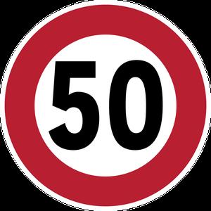 Limitation de vitesse à 50 km/h