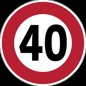 Limitation de vitesse à 40 km/h