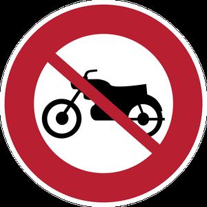 Accès interdit aux motocyclettes et motocyclettes légères