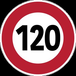 Limitation de vitesse à 120 km/h