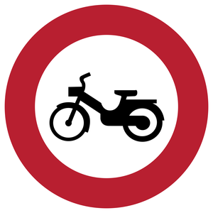 Accès interdit aux cyclomoteurs