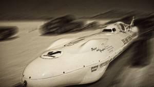 Voiture pour record de vitesse