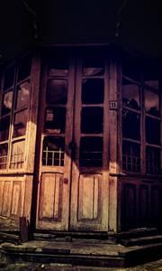 Porte de vieille maison en bois