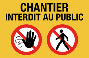 Chantier interdit au public - picto - jaune
