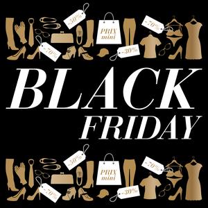 Black friday dans le domaine de l'habillement et de la mode