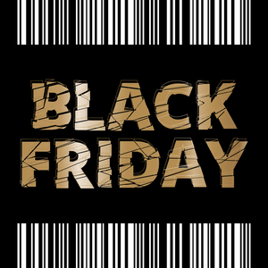 Black friday noir et blanc et or
