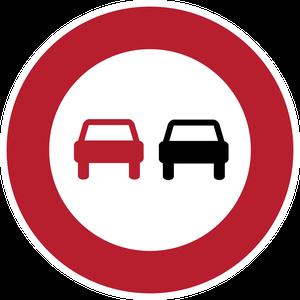 Signal-interdiction de dépasser tous les véhicules
