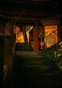 Porte décorée et colorée