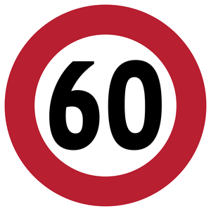 Limitation de vitesse à 60 km/h