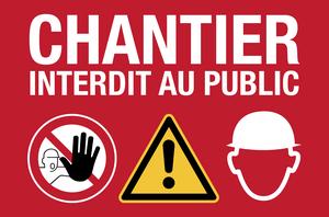 Chantier interdit au public - picto - rouge