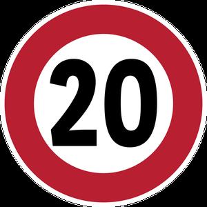 Limitation de vitesse à 20 km/h