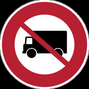 Accès interdit aux véhicules affectés au transport de marchandises