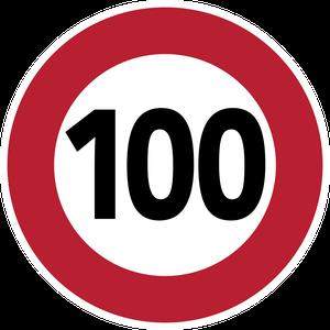 Limitation de vitesse à 100 km/h