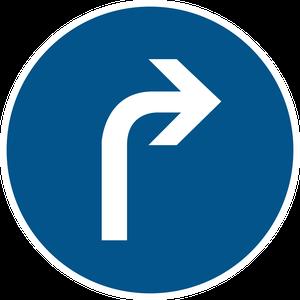 Direction obligatoire à la prochaine intersection : à droite