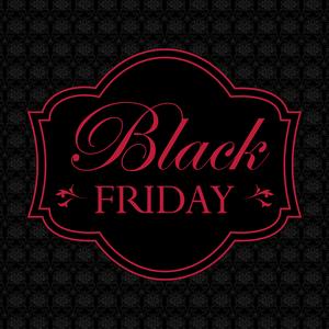 Black friday élégant et rouge