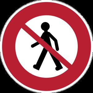 Accès interdit aux piétons