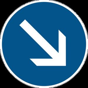 Contournement obligatoire par la droite