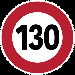 Limitation de vitesse à 130 km/h