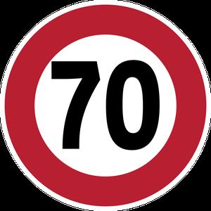 Limitation de vitesse à 70 km/h