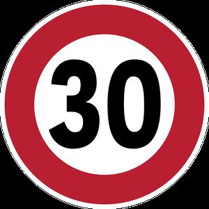 Limitation de vitesse à 30 km/h