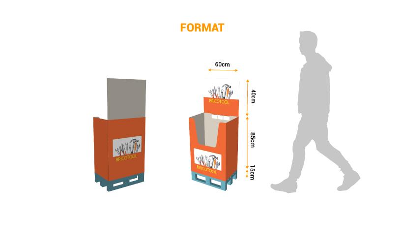 Impression de PLV de palette - box quart de palette