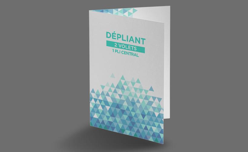 Dépliant, tract, prospectus 2 volets
