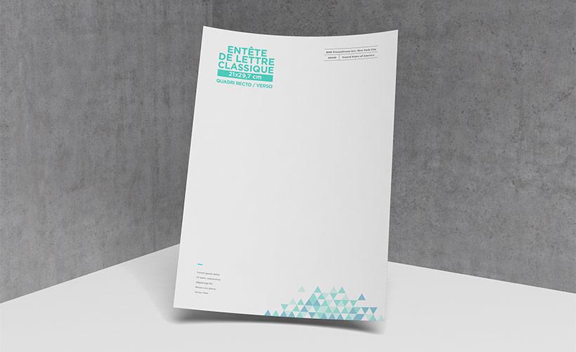 Papier en-tête de lettre A4 classique