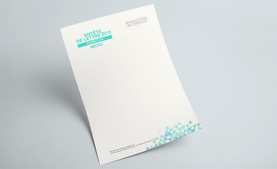 Papier en-tête de lettre A4 économique