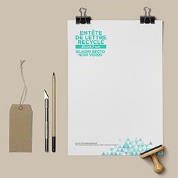 Caractéristiques tête de lettre recyclé