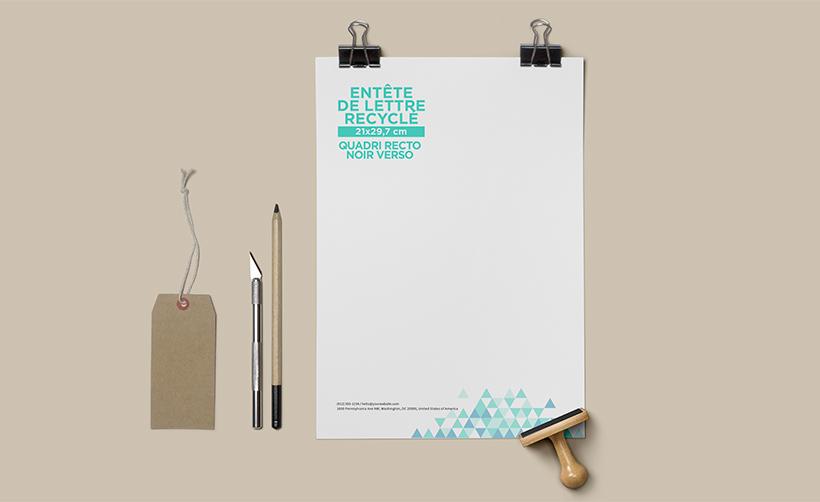 Papier en-tête de lettre A4 recyclé