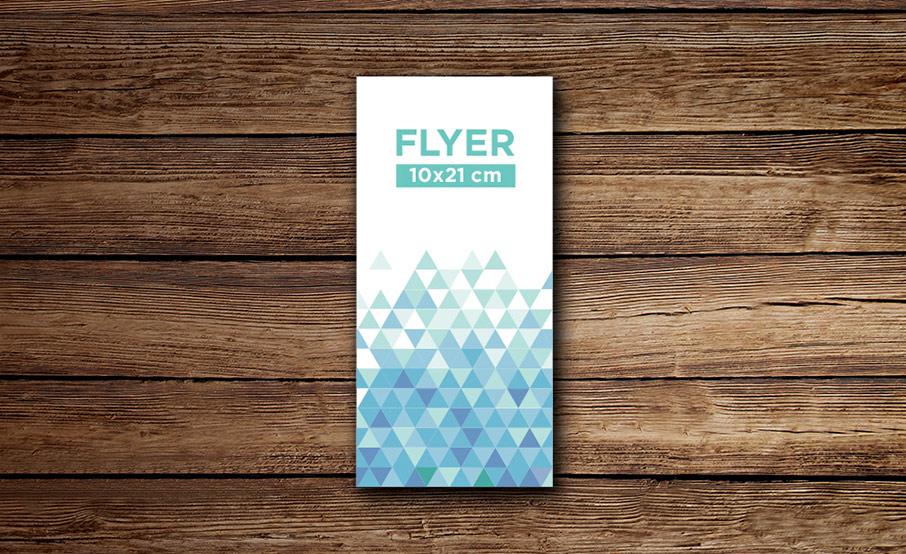 Flyers  standards 10x21cm