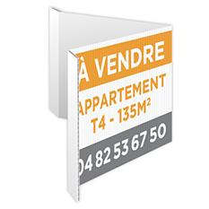 Utilisation panneaux immobilier en V avec rabats