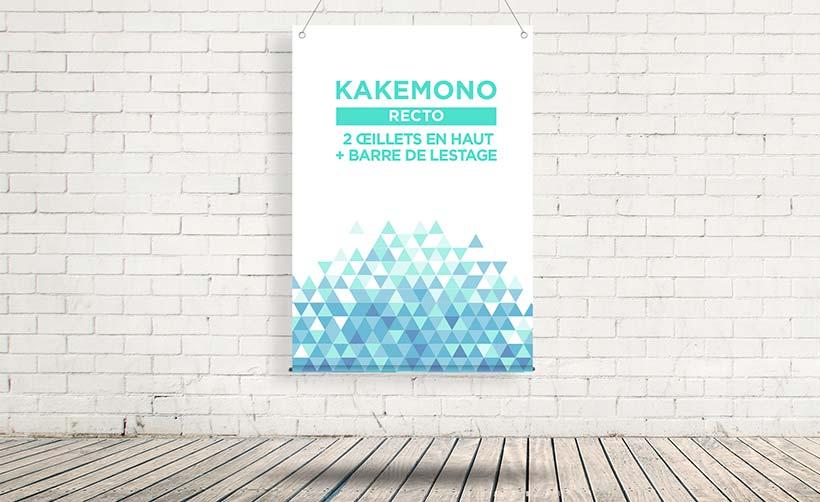 Kakémono imprimé recto, kakémono vitrine