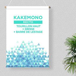 Kakémono imprimé recto