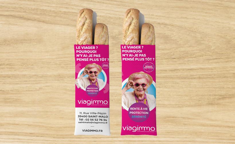 Sac à pain 12x4x35 cm