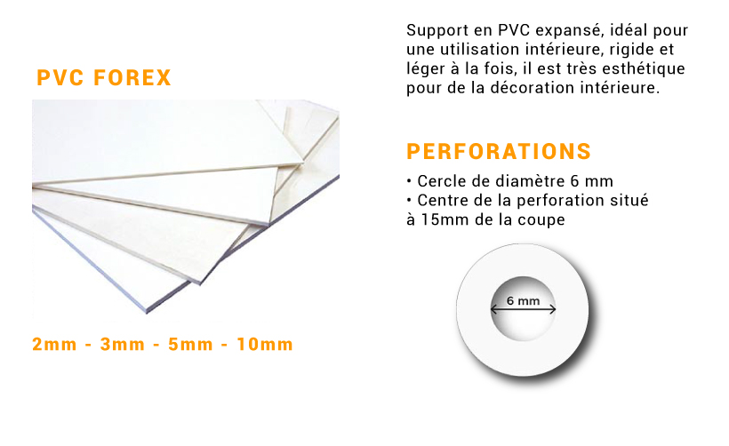 PVC forex avec perforations