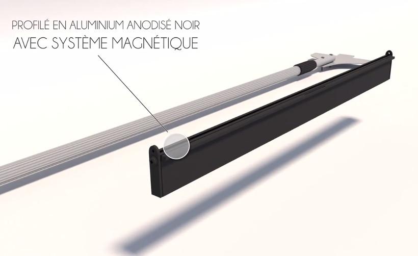 Porte affiche Magnétique Show Me : profilé aluminium