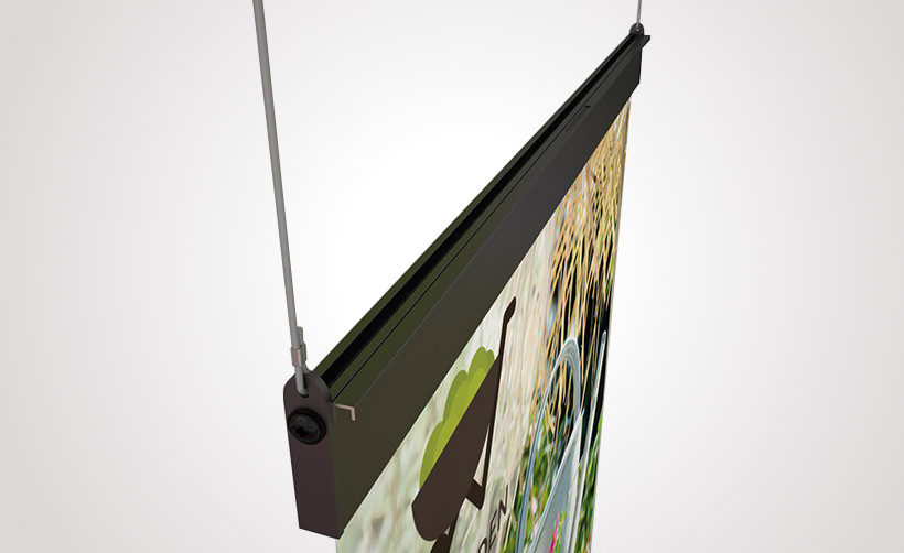 Porte affiche Magnétique Show Me Grande hauteur : exemple