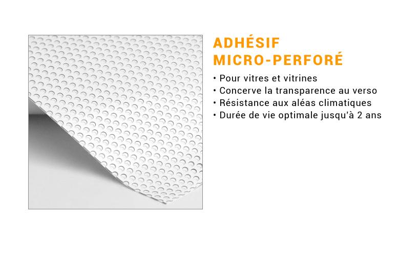 Support microperforé pour adhésif