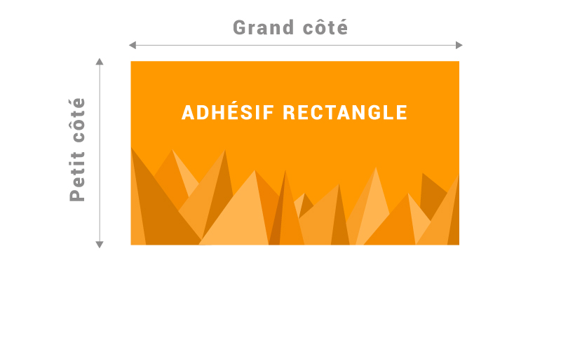 Support rectangle pour adhésif
