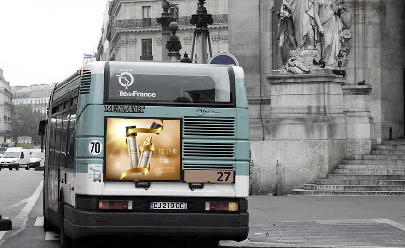 Impression en ligne affiche de bus