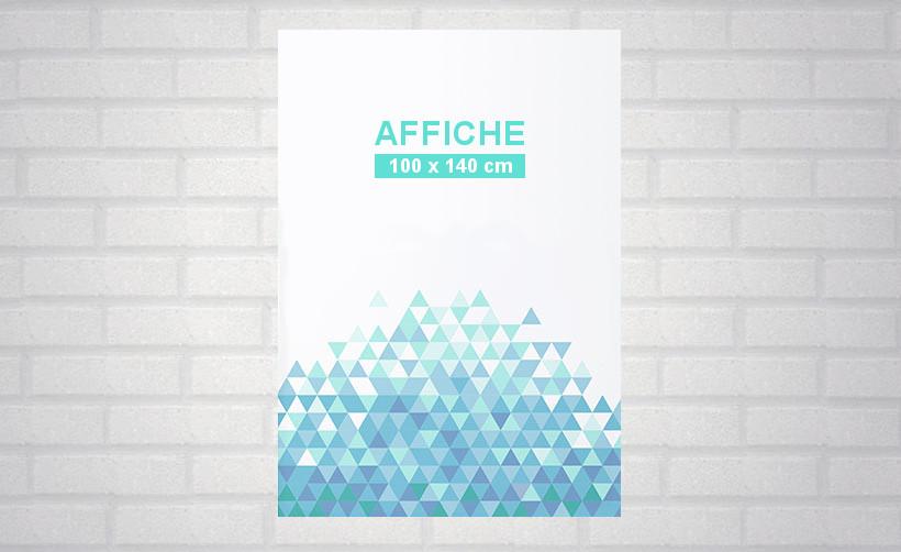 Affiche publicitaire 100 x 140 cm - format standard