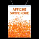 Affiche suspendue