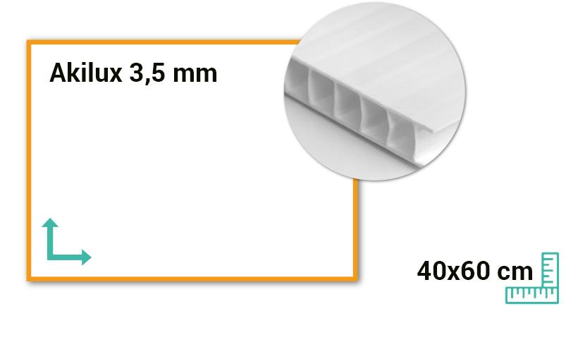 Panneau Akilux 3,5mm 40x60 cm