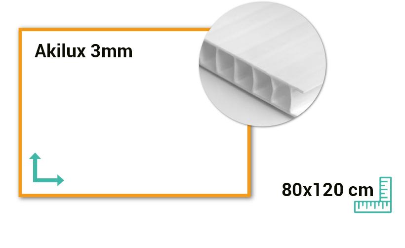 Panneau Akilux 3mm 80x120 cm