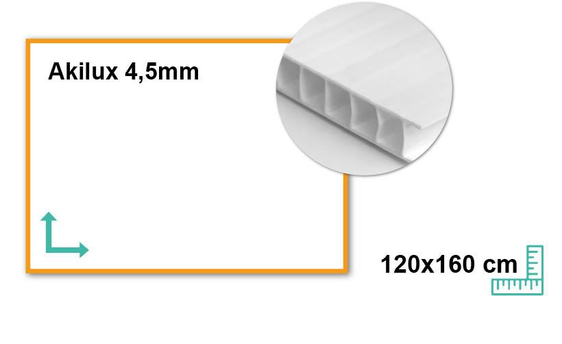 Panneaux Akilux 4,5mm 80x120 cm