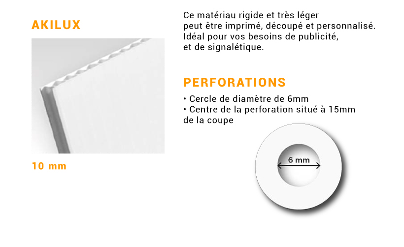 Akylux 10mm avec perforations