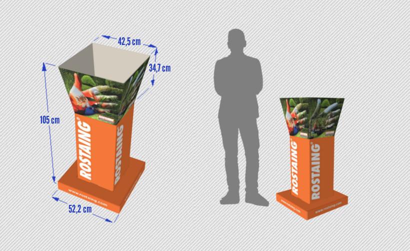 PLV Bac à fouille : dimensions