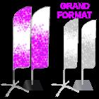 Beach flag plume grand format