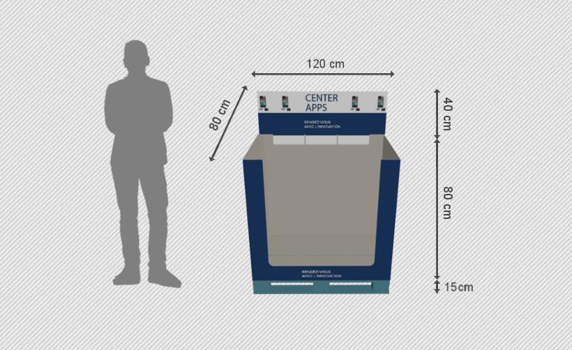 PLV de palette :  box de palette